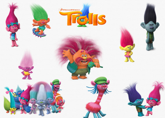 Trolls high quality png. Background clipart movie