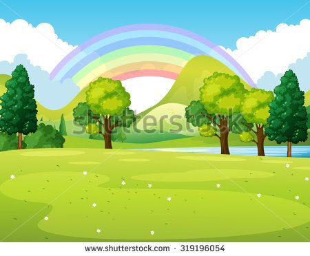 Background clipart nature. Scene of a park