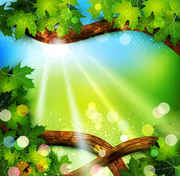 Background clipart nature. Free fresh green leaves