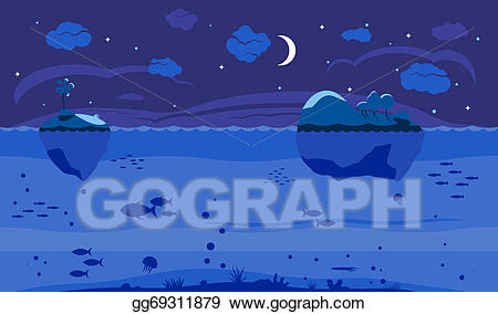 Background clipart night. Drawing sea game gg