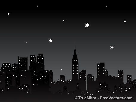 Background clipart night. Free city and vector