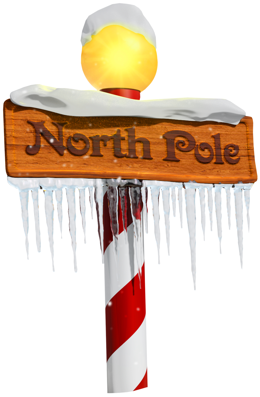Winter clipart sign. North pole png gallery