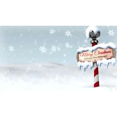 Snowy ribbons hd video. Background clipart north pole