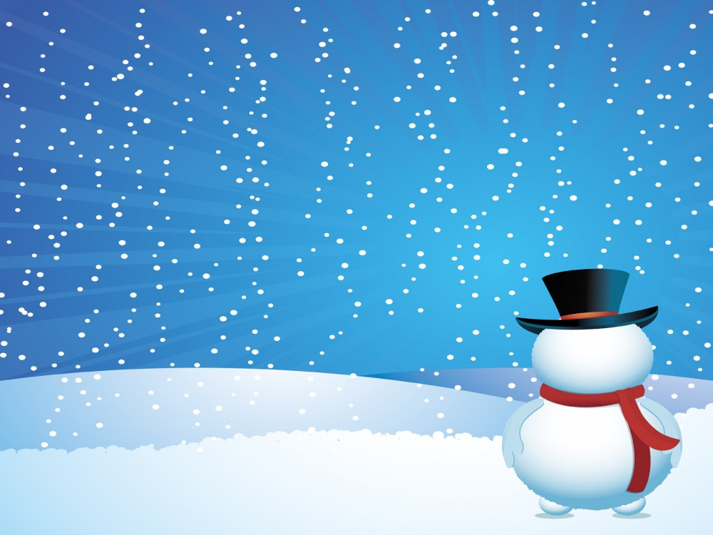 Background clipart north pole. Snow man on christmas