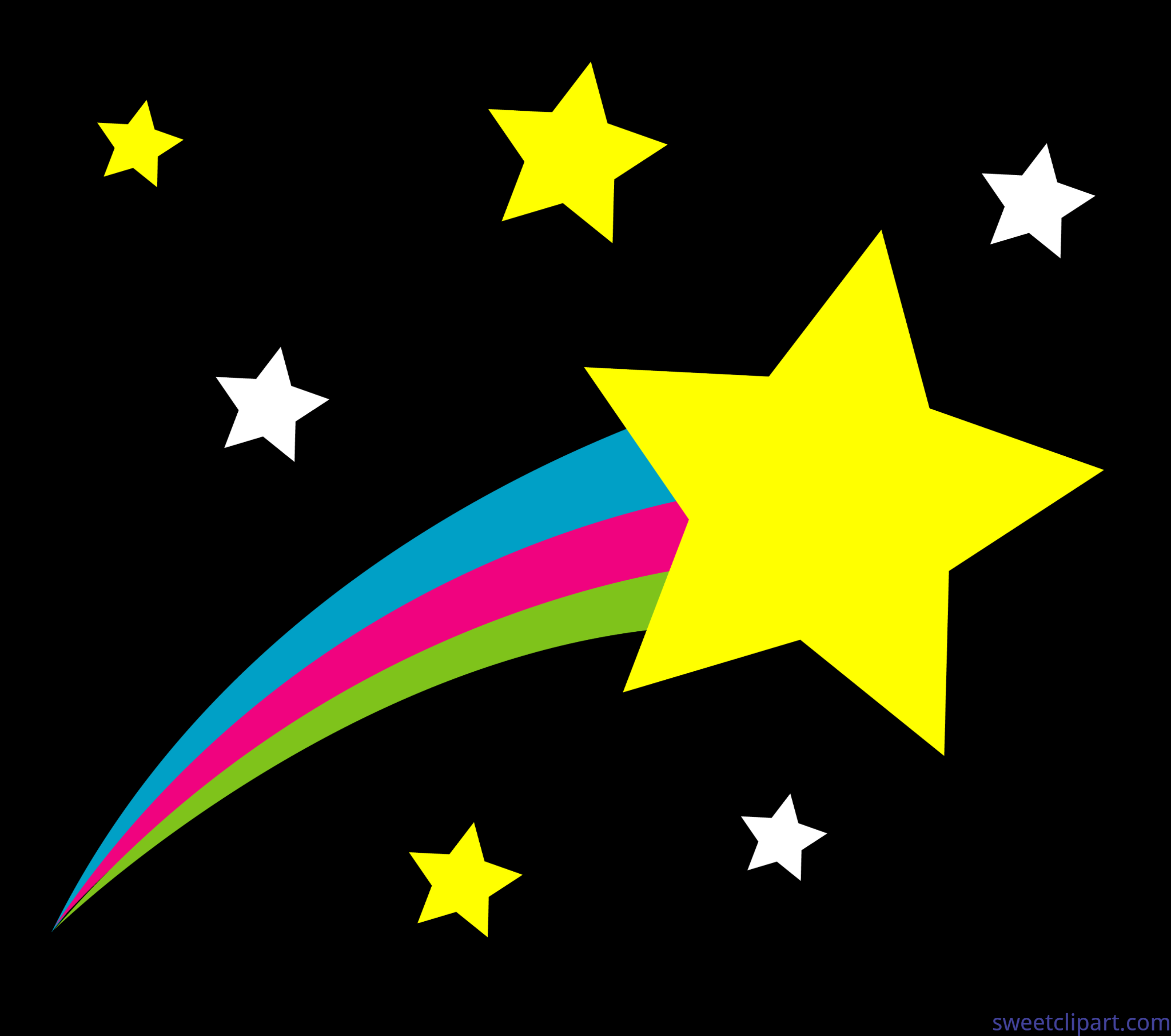 Black clipart shooting star. Outer space background clip