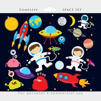 Clipart rocket planet.  free awesome clip