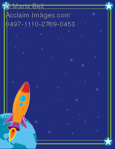 Background clipart outer space. Rocket blasting into image