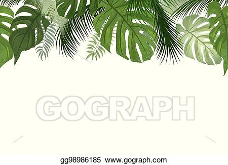 Background clipart palm tree. Vector art floral seamless