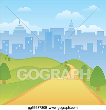 Background clipart park. Vector illustration urban eps