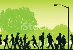 Background clipart park. City busy people walking