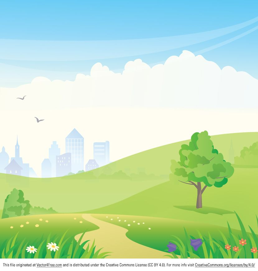 Urban vector good for. Background clipart park