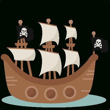 Svg scrapbook cut file. Background clipart pirate ship