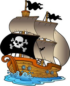 Background clipart pirate ship. Baby shower pirates and