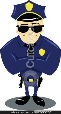 Background clipart police. Policeman and white stock