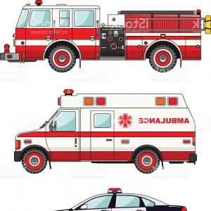 Background clipart police. Fireman stands near the