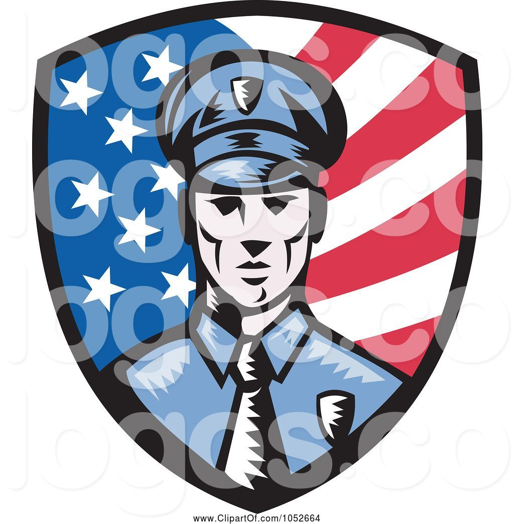 Royalty free american officer. Background clipart police