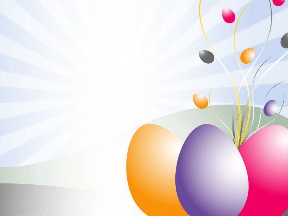 D ppt easter eggs. Background clipart powerpoint