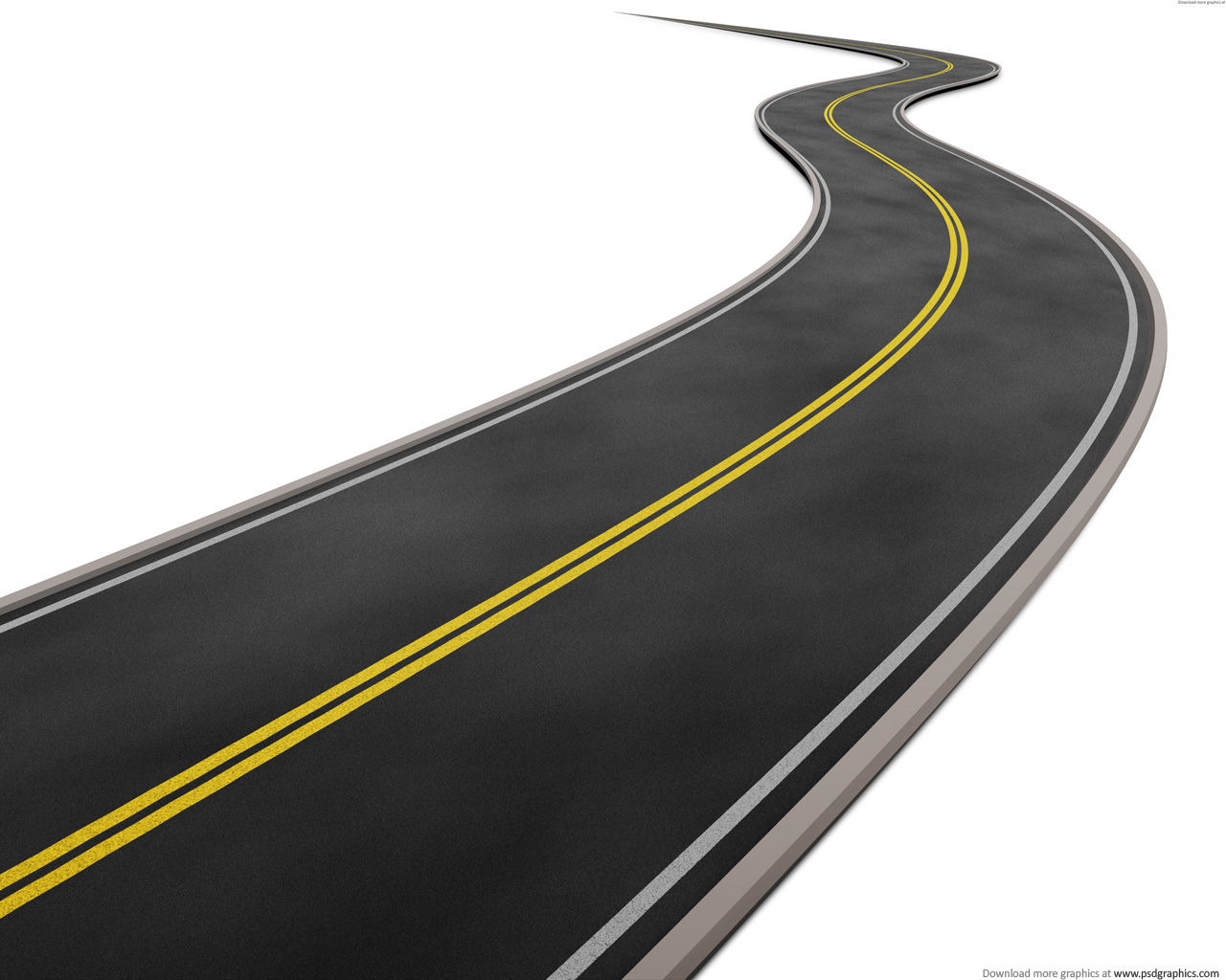 Background clipart road. Curved on white psdgraphics