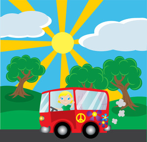 Background clipart road. Free summer image car