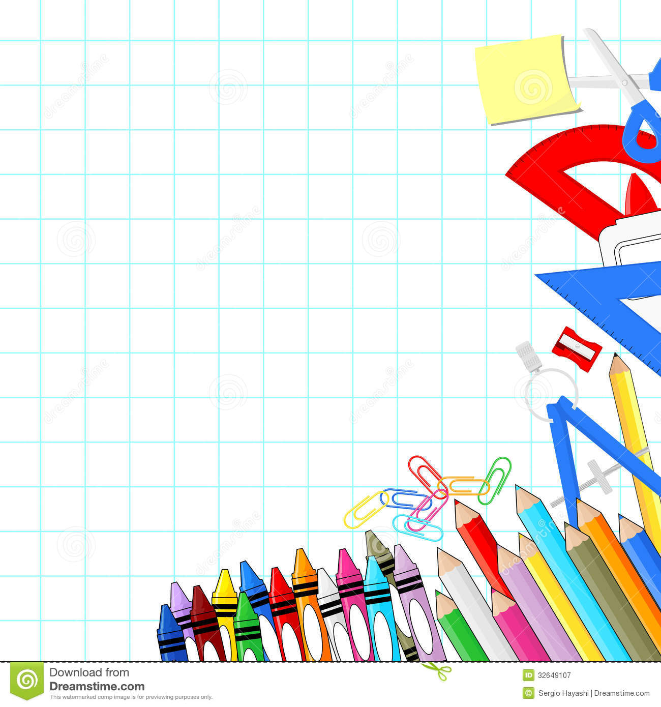 Supplies panda free images. Background clipart school