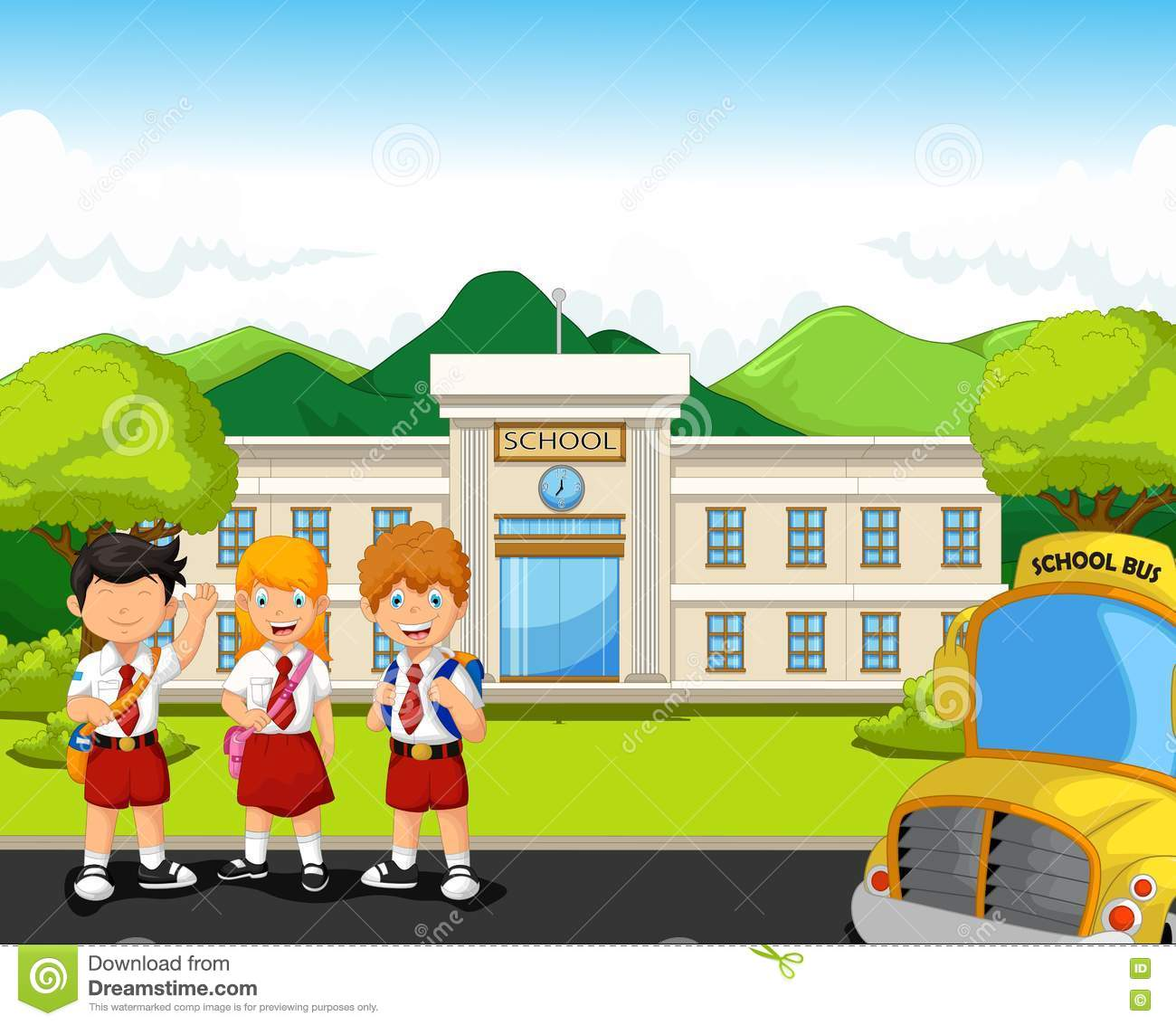 Building check all. Background clipart school