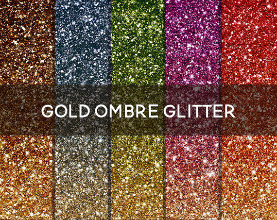 Ombre glitter digital paper. Background clipart sparkle