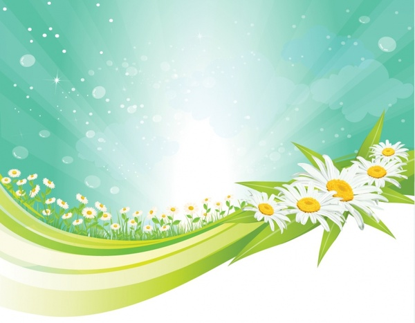 Background clipart spring. Free vector in adobe