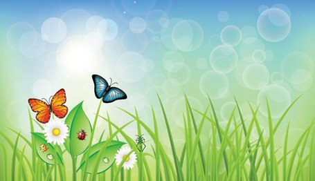 Background clipart spring. Free and vector graphics