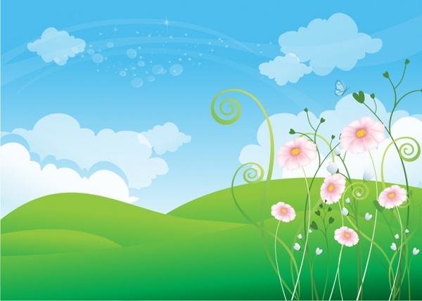 Free vector download for. Background clipart spring