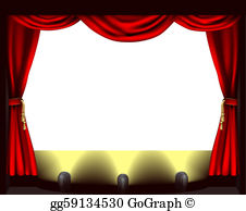 Vector centre illustration theatre. Background clipart stage