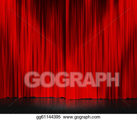 Drawing red curtain gg. Background clipart stage