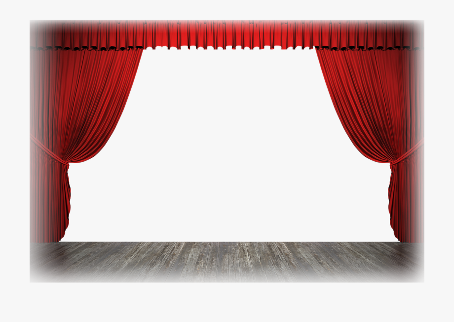 Curtain clipart curtain raiser. Stage curtains png theater