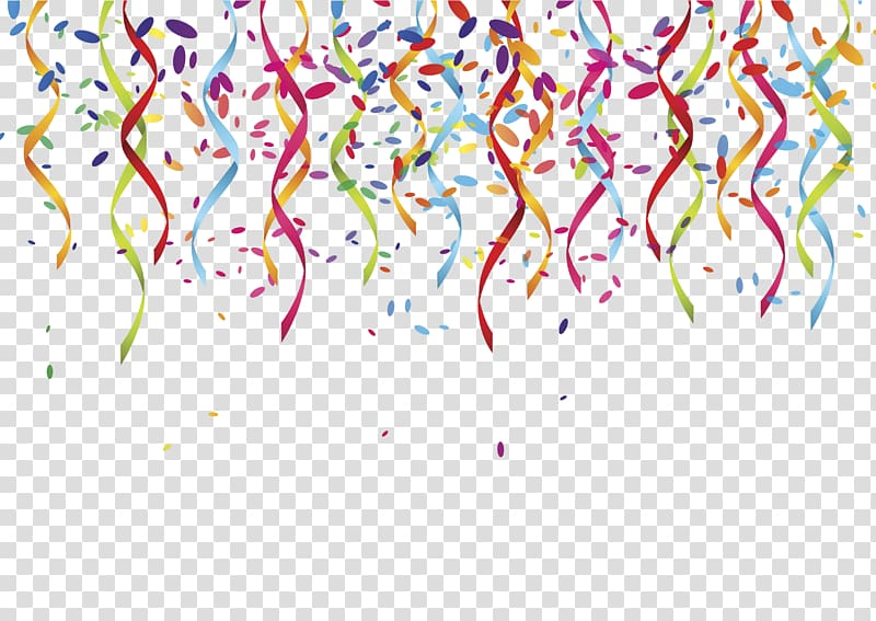 Multicolored banderitas party serpentine. Celebrate clipart artwork