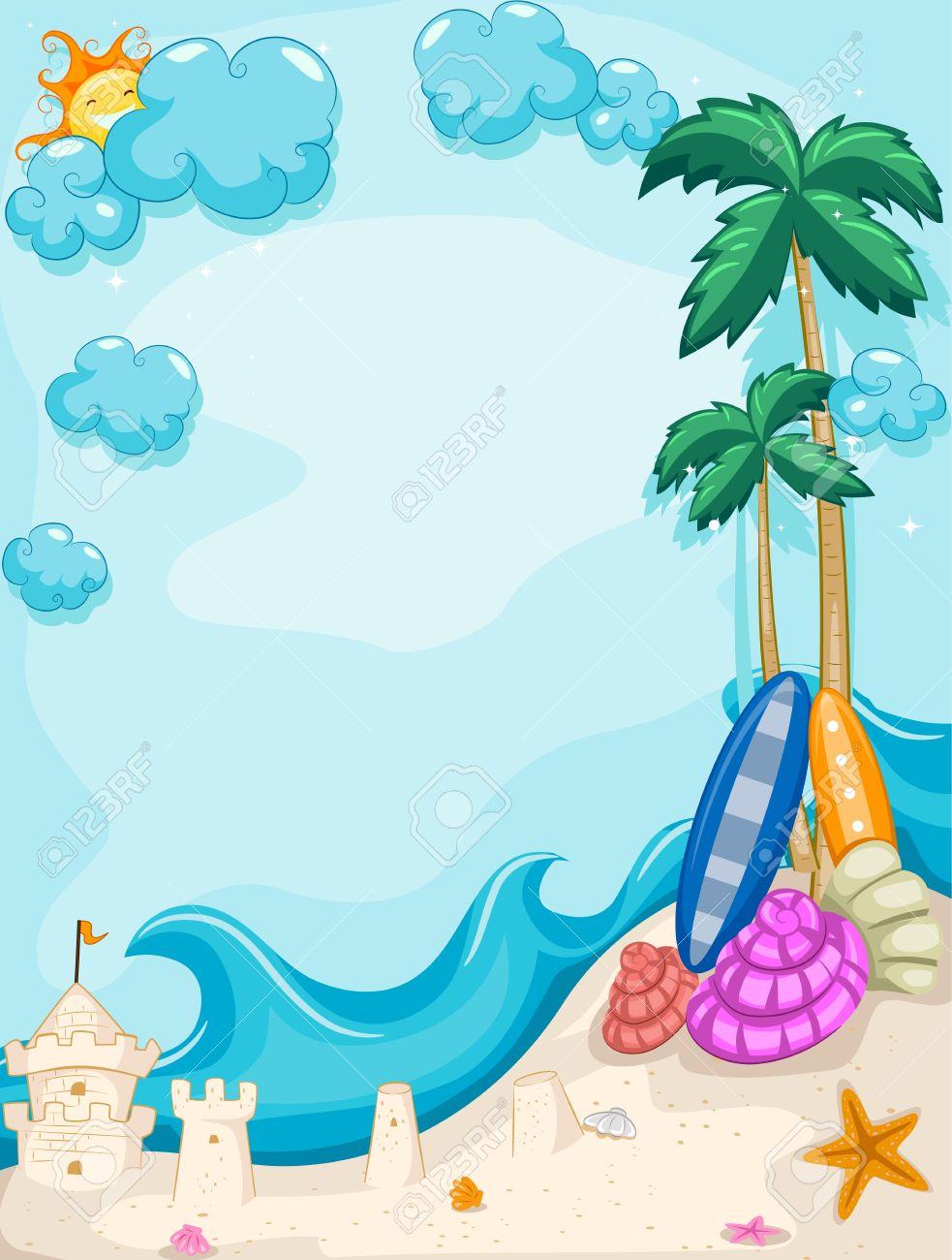 . Background clipart summer