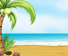 Beach clip art wallpapers. Background clipart summer