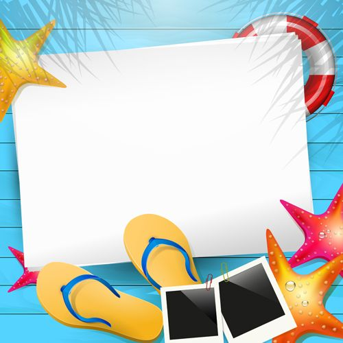 Background clipart summer. Happy holidays elements vector