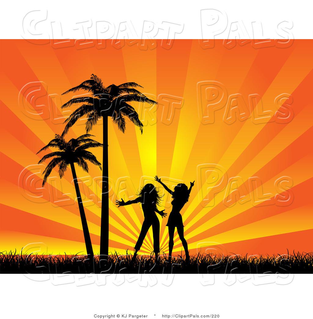 Background clipart sunset. Beach