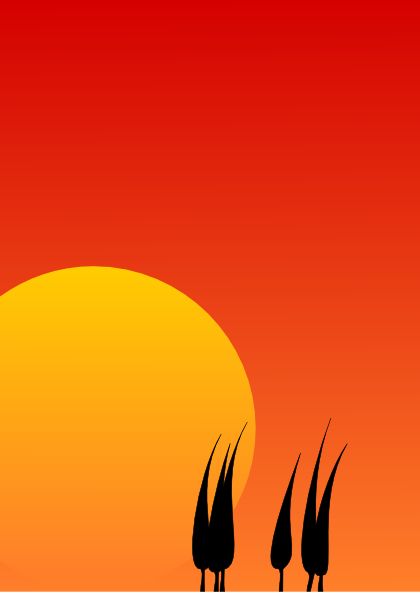 Clip art at clker. Background clipart sunset