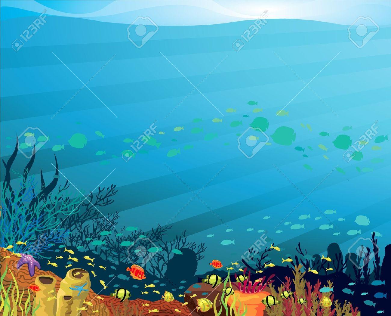 Background clipart underwater. Station