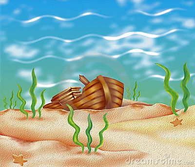 Arcas de tesouros no. Background clipart underwater