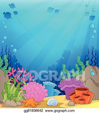 Vector theme background . Ocean clipart underwater