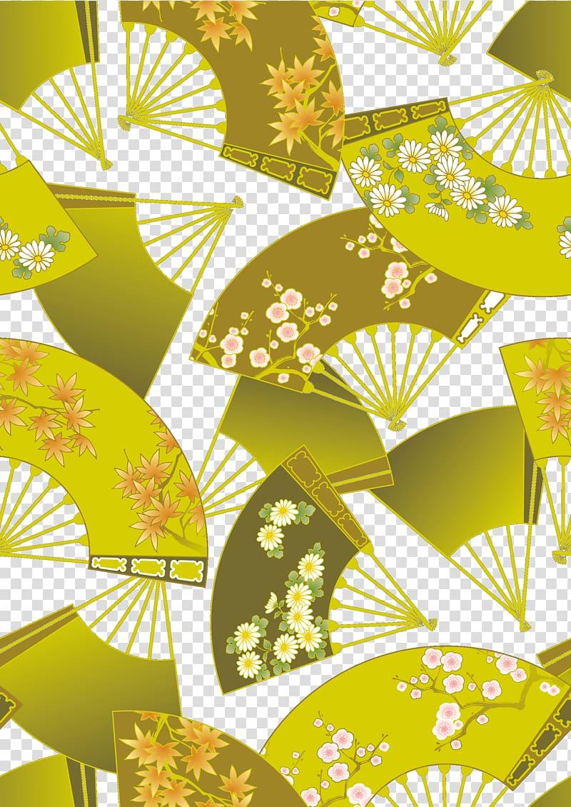 Japan gold japanese folding. Background clipart vintage