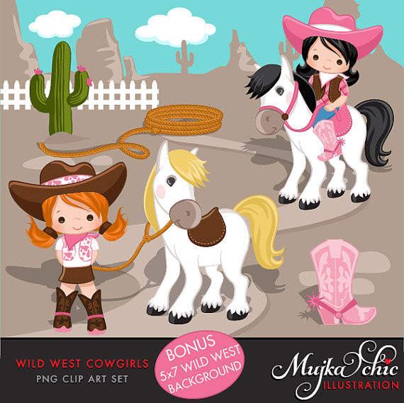 Background clipart wild west. Cowgirl pink brown western