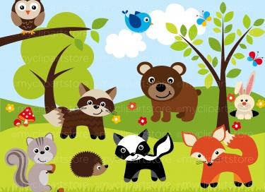 Sherwood forest animals meylah. Background clipart woodland