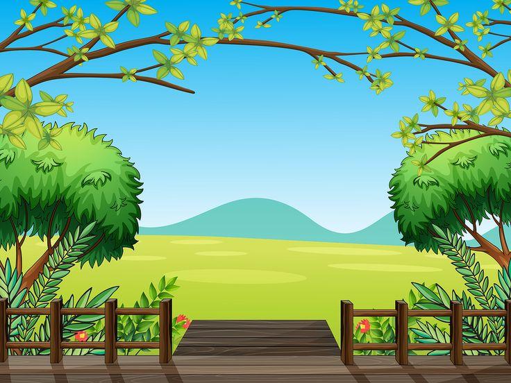 best cartoon landscape. Background clipart woodland