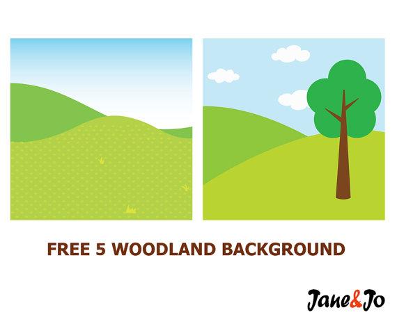 Background clipart woodland.  clip artwoodland animals