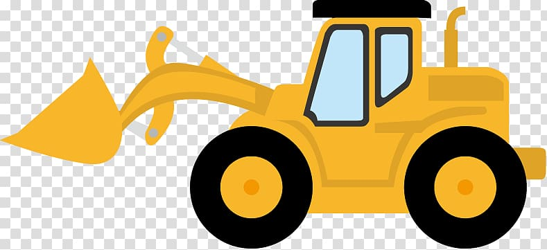 Backhoe clipart. Yellow front loader illustration