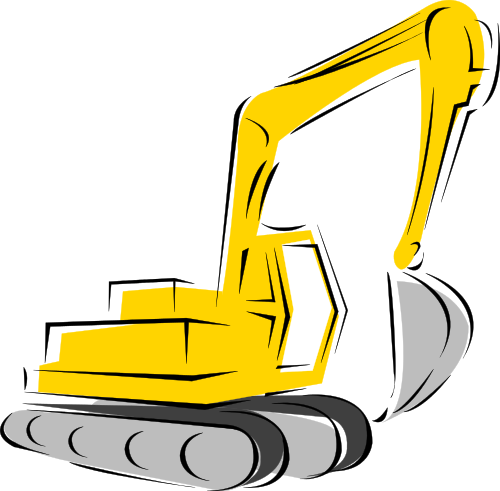 Backhoe clipart. Working vehicles png html