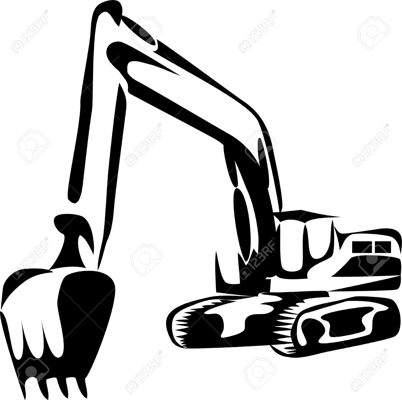 Excavator clipart excavator arm. Backhoe drawing at getdrawings