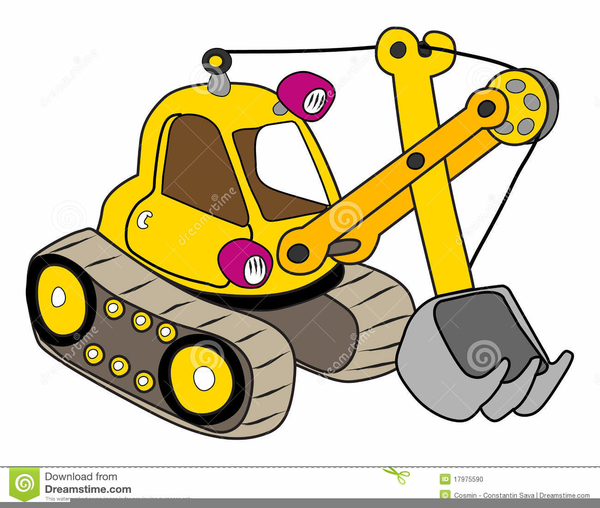 Backhoe clipart. Yellow free images at